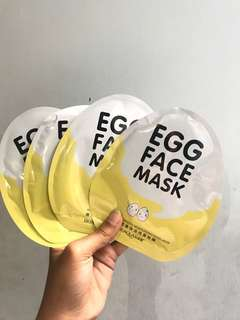 Egg mask face