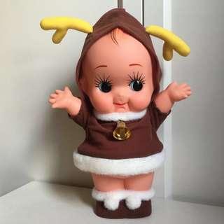 Kewpie 沙律Bb 非賣品 丘比 31cm 公仔 日本 昭和娃娃 聖誕鹿