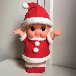 Kewpie 沙律Bb 非賣品 丘比 31cm 公仔 日本 昭和娃娃 聖誕老人