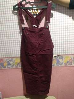 Colorbox Maroon Overall