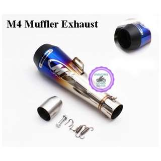 M4 Muffler Exhaust Motorcycle 51mm Universal Slip On Ekzos