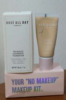 Rosé All Day - The realest lightweight foundation, shade LIGHT