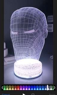 3D LED Iron Man Lamp
