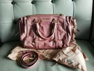 (減價)Miu Miu RN0893 粉紅色手袋