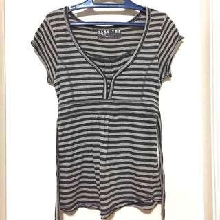 Zara TRF Striped Blouse