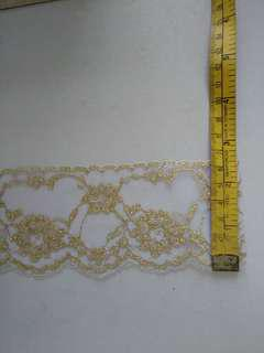 gold thread lace