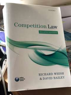 Competition Law by Whish and Bailey