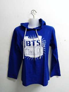 BTS Hooded Shirt Blue