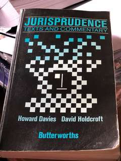 Jurisprudence by Davies and Holdcroft (Butterworths)