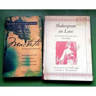 Book Bundle: Macbeth / Shakespeare on love
