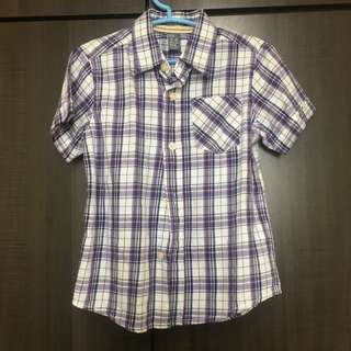 Zara purple shirt