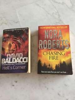 Hell's Corner -David Baldacci / Chasing Fire -Nora Roberts