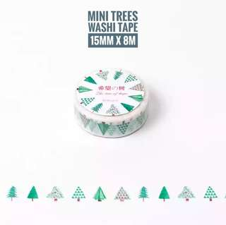 [T]Mini trees washi tape