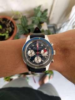 NOS Jacques Monnat Incabloc Chronograph