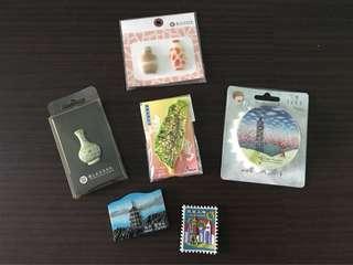 Taiwan/Shanghai/Chengdu Fridge Magnets