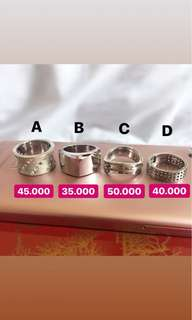 925 Sterling Silver Ring / Cincin Silver sisa jualan