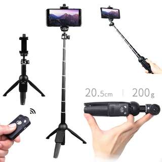 🚚 [100% Original] New YUNTENG 9928 Wireless Bluetooth Remote Extendable Selfie Stick Monopod Tripod Phone Stand Holder Mount Phone Click Holder