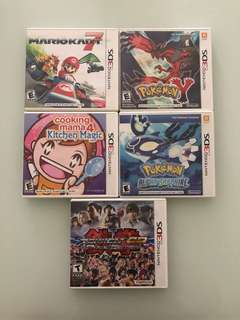 3DS Pokemon Cooking Mama Tekken Mario Kart Games For Sale!