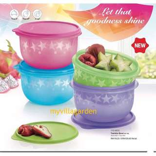 💥Clearance💥 Tupperware Twinkle Bowl 1.9L x4pcs
