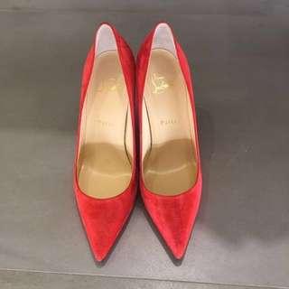 Louboutin suede heels