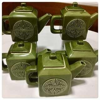 Vintage 5 Star Hotel Tea Pots