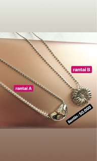 Sterling silver 925 necklace/kalung silver 925 made in italy