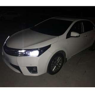 2014年ALTIS白色E版跑9萬(可議價)大桃園優質二手中古車買賣