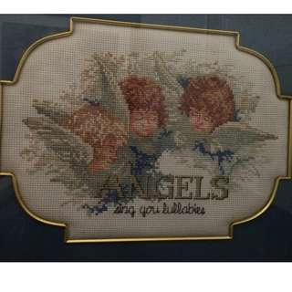 Angels Cross stitched - framed