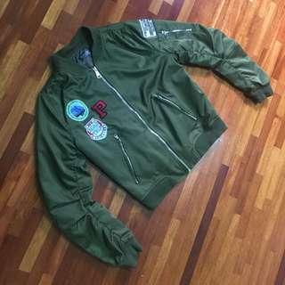 Army Green Bomber Jacket