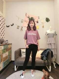 🚚 轉賣Twinkle韓國連線 Marina超百搭字母T
