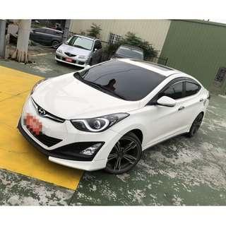2014年Elantra白色EX 頂跑4萬(可議價)大桃園優質二手中古車買賣