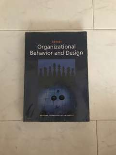 AB1601 Organisational Behaviour and Design Textbook