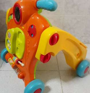 Bruin Toys'RUs 2in1 Push Walker Scooter