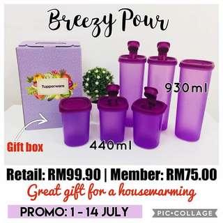 Tupperware Breezy Pour set