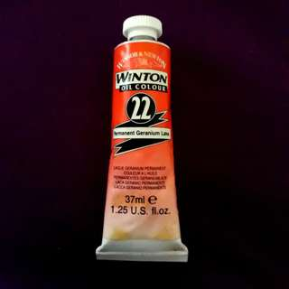 Winsor & Newton Oil Colour No. 22 Permanent Geranium Lake 37ml