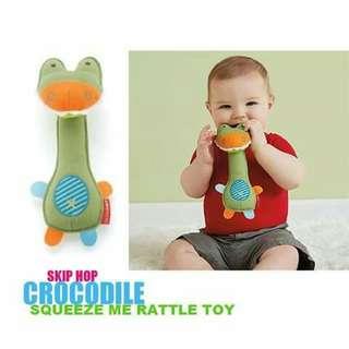 Skip Hop Squeeze Me Rattle Toy - CROCODILE