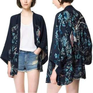 Bats Sleeve Shawl Harajuku Kimono Cardigan Women Printed Top #july50