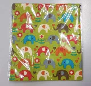 Drawstring pouch elephant prints