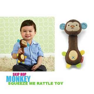 Skip Hop Squeeze Me Rattle Toy - MONKEY