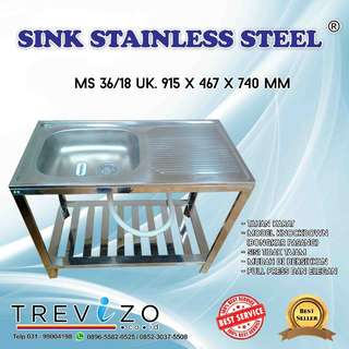 Bak Cuci Piring Metalco MS 36 / 18 Kaki Set FULL STAINLESS STEEL