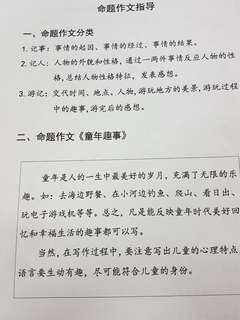 P5 Higher Chinese Compo 2 types open & picture with model ans