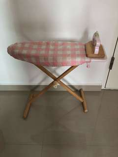ELC Wooden Ironing Board + Iron Set