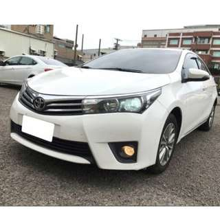 2015年ALTIS白色S+跑2萬(可議價)大桃園優質二手中古車買賣