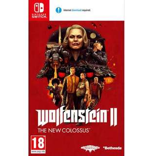 Nintendo Switch Wolfenstein II New Colossus