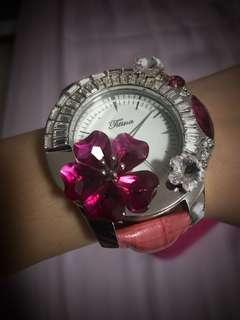 Crystal Handmade Lady Watch (Handmade from Hong Kong)
