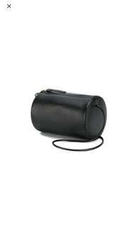 Building Block - Cylinder Sling Crossbody Bag Black