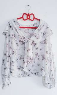 Snidel Japan Floral Blouse