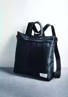 日本smart 雜誌附錄 STUDIOUS 潮牌三用尼龍手提包斜背包肩背包後背包雙肩袋 背囊 休閒運動包上班公事包