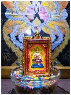 Jumbo phra phom Four face buddha bleseed by Kruba Krissana