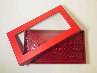 Vivienne Tam red leather long wallet